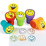 German Trendseller® - 6 x Stempel Smiley´s┃ Kinder Stempelset...