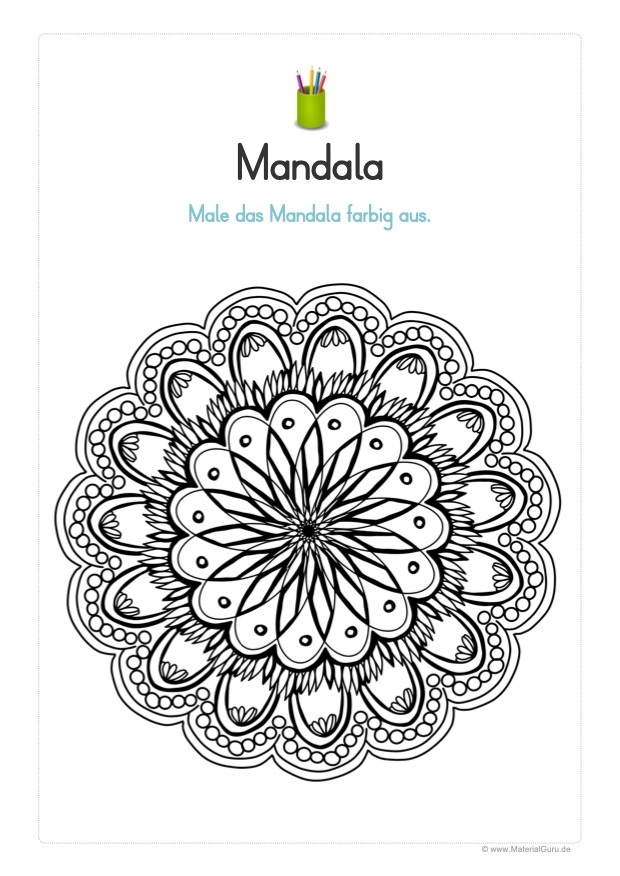 Ausmalbild: Mandala 24