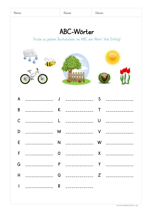 Abc Alphabet Lernen Materialguru