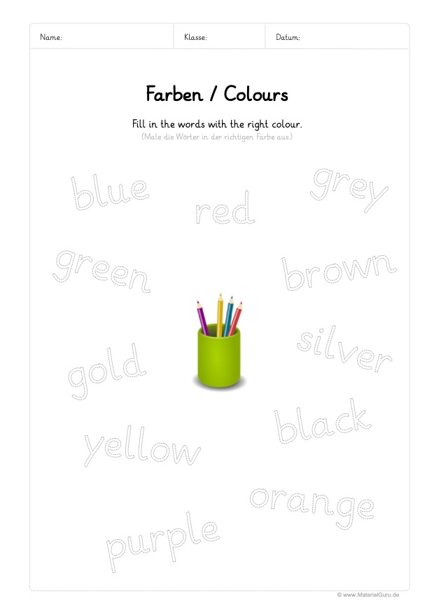Farben / Colours - MaterialGuru
