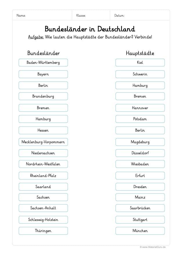 Bundesländer Karte Ohne Namen.Bundesländer Materialguru